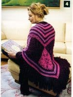Wraps to Throws Crochet Pattern Book LA 4524 DISCONTINUED